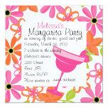 Strawberry Margarita Party 5.25x5.25 Square Paper Invitation Card