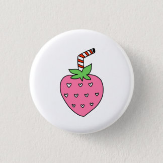 Strawberry Milk BUTTON, cute BUTTON