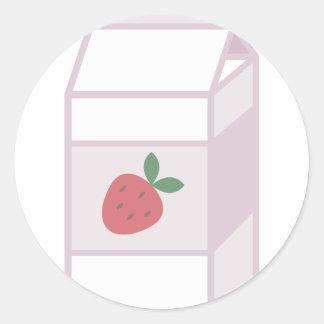 Strawberry Milk Classic Round Sticker