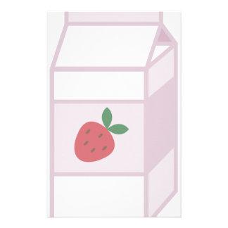 Strawberry Milk Custom Stationery
