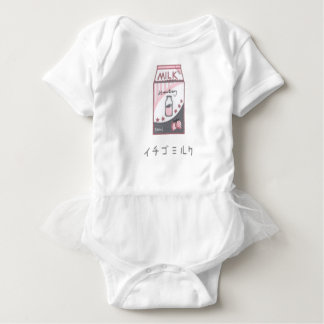 Strawberry Milk Harajuku Design Baby Bodysuit