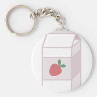Strawberry Milk Key Ring