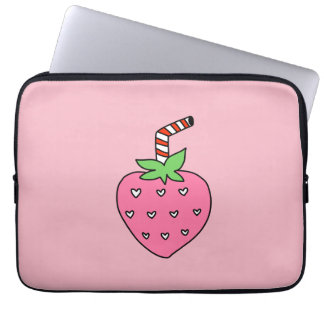 Strawberry Milk LAPTOP SLEEVE, cute LAPTOP SLEEVE