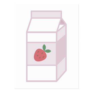 Strawberry Milk Postcard