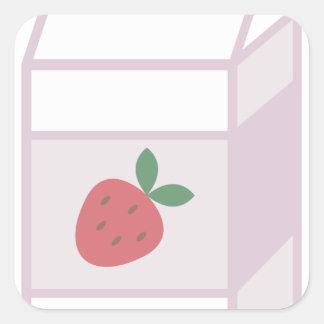 Strawberry Milk Square Sticker