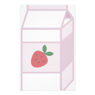 Strawberry Milk Stationery