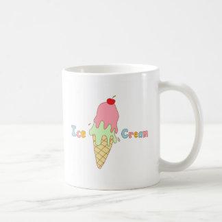 Strawberry Mint Ice Cream Cone Classic White Coffee Mug