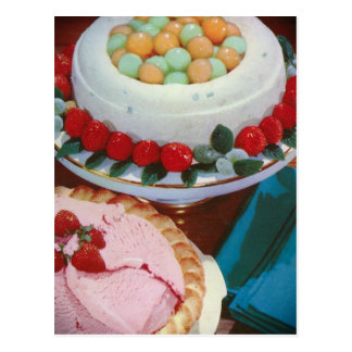 strawberry & mint postcard