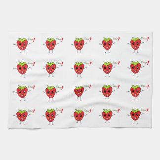 Strawberry Monster Tea Towel
