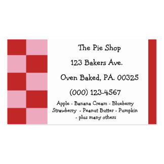 Strawberry Mousse Pie Colors Business Card Template
