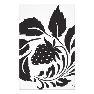 strawberry, nature, abstract, trees, foliage personalised stationery