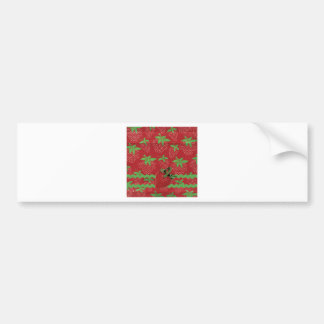Strawberry on Green Ric Rac, Strawberries Bumper Sticker