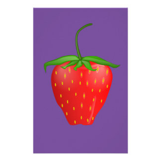 Strawberry on Quality Products Stationery Paper