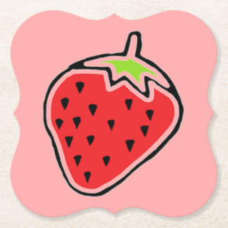 Strawberry Paper Coaster