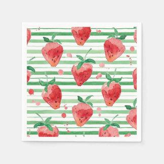 Strawberry Paper Napkins