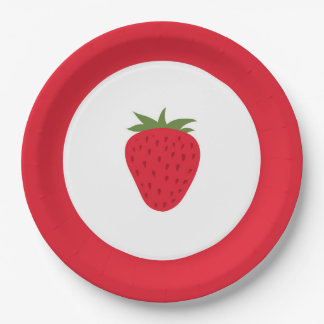 Strawberry Paper Plates 9 Inch Paper Plate