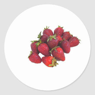 Strawberry Patch Round Sticker