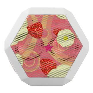 Strawberry Pattern 2 White Boombot Rex Bluetooth Speaker
