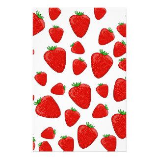 Strawberry pattern customised stationery