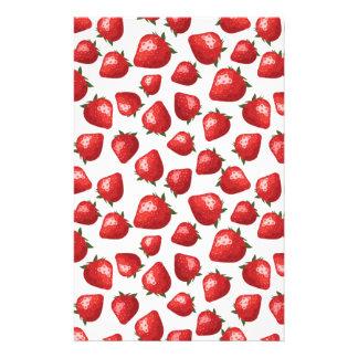 Strawberry Pattern Customized Stationery