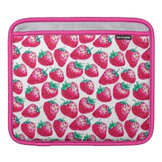 Strawberry pattern iPad sleeve
