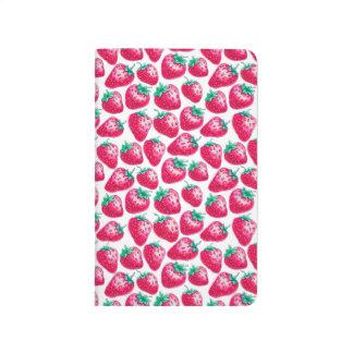 Strawberry pattern journal