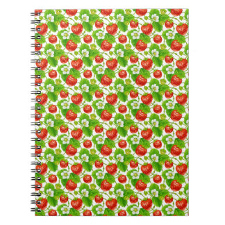Strawberry Pattern Notebook