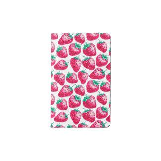 Strawberry pattern pocket moleskine notebook