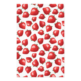 Strawberry Pattern Stationery