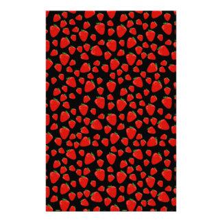 Strawberry  pattern stationery design