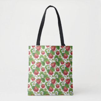 Strawberry Pattern Woman All-Over-Print Tote Bag