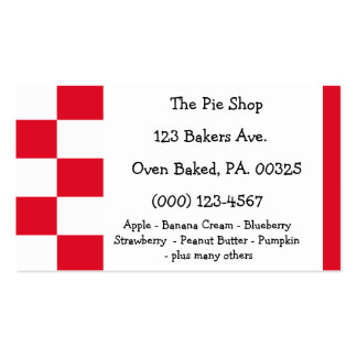 Strawberry Pie Colors Business Card Templates