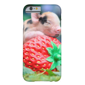 strawberry pig barely there iPhone 6 case