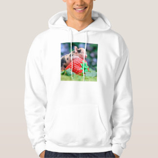 strawberry pig hoodie