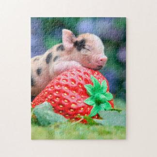 strawberry pig jigsaw puzzle