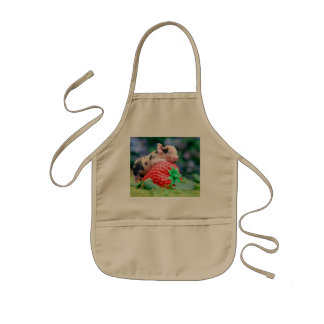 strawberry pig kids apron