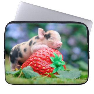 strawberry pig laptop sleeve