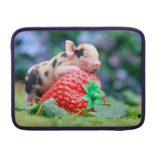 strawberry pig MacBook sleeve