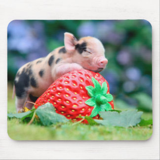 strawberry pig mouse pad