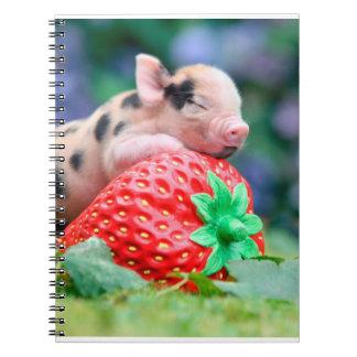 strawberry pig notebook