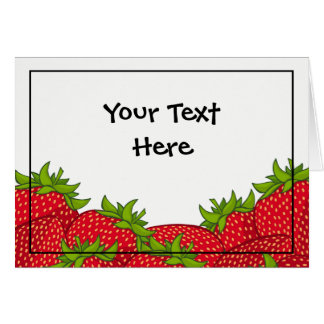 Strawberry Pile Blank Card