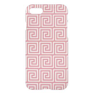 Strawberry Pink White Greek Key Pattern iPhone 7 Case