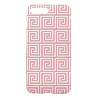 Strawberry Pink White Greek Key Pattern iPhone 7 Plus Case