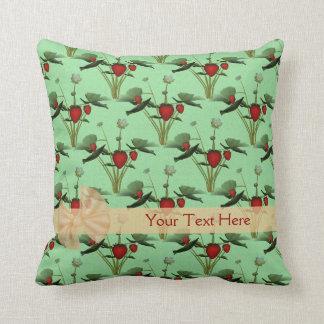 Strawberry Plants Personalized American MoJo Pillo Cushion