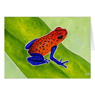 Strawberry Poison Dart Frog Card