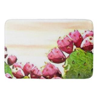 strawberry prickly pear bath mat