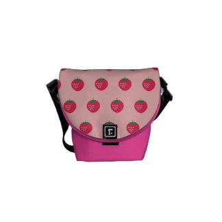 Strawberry Print Messenger Bags