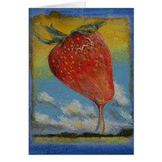 Strawberry Rainbow Greeting Card