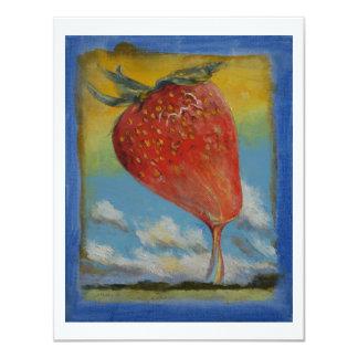 Strawberry Rainbow 11 Cm X 14 Cm Invitation Card