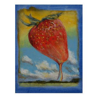 Strawberry Rainbow Postcard